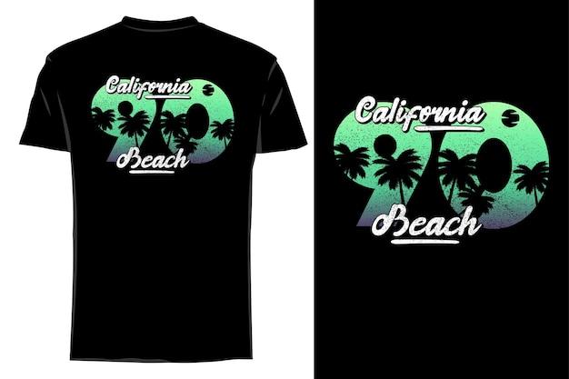 Mockup t-shirt silhouette california beach 90 retrò vintage