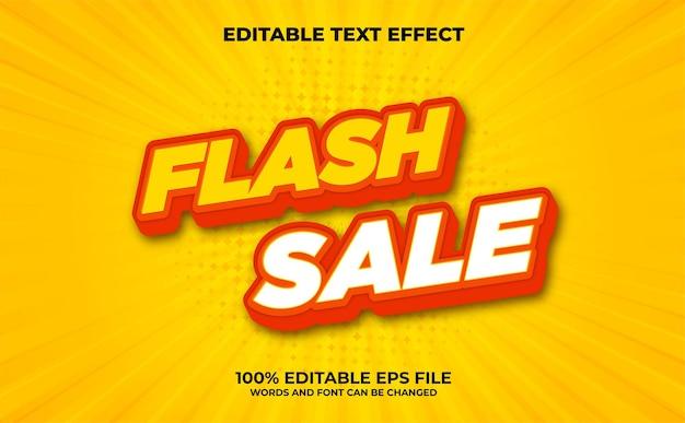 Effetto di testo modificabile di vendita flash 3d moderno vettore premium