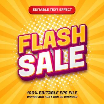 Effetto di testo modificabile di vendita flash 3d moderno