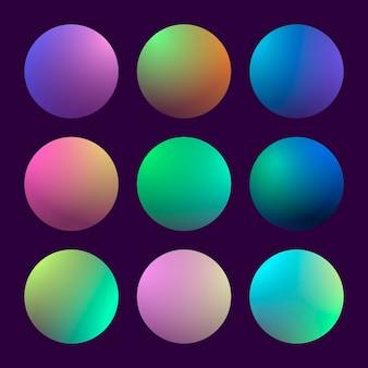 Set gradiente 3d moderno