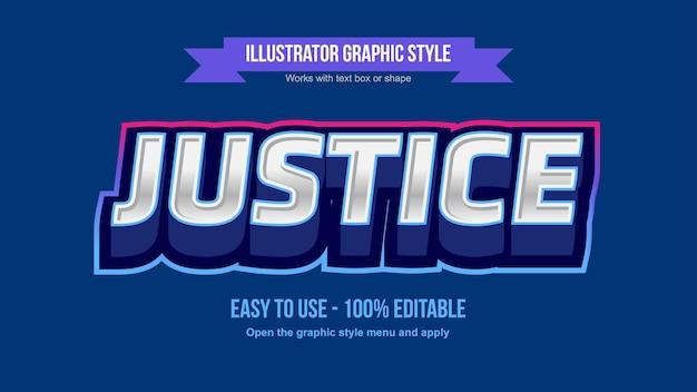 Argento 3d moderno con stile di testo modificabile smussato blu