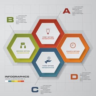 Modello di infografica business moderno presentazione 4 opzioni