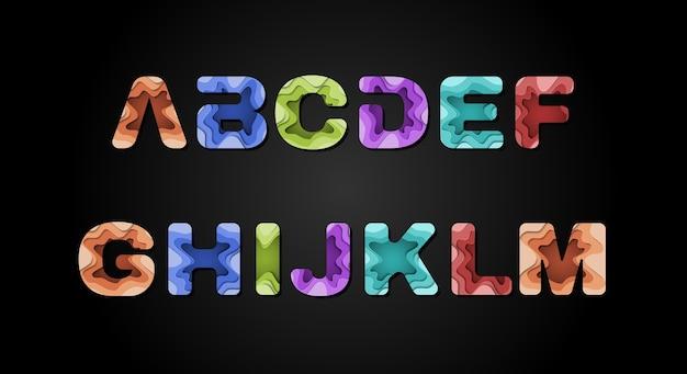 Fonte di alfabeto astratto moderno. caratteri tipografici in stile urbano per tecnologia, digitale, film, logo