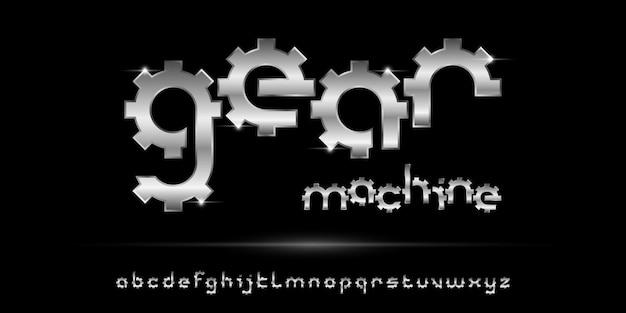 Carattere alfabeto astratto moderno con modello di stile urbano