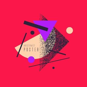Fondo geometrico di arte astratta moderna con stile piatto e minimalista. manifesto di vettore con elementi per il design