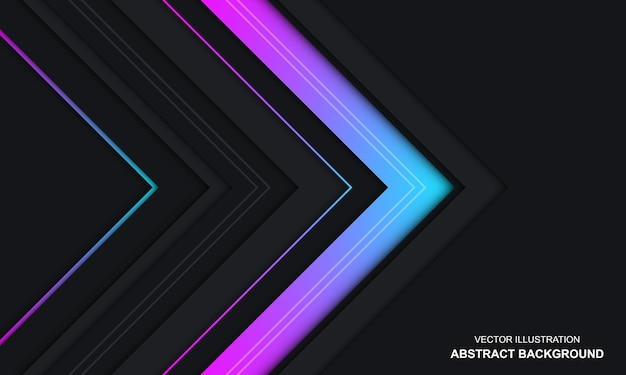 Sfondo astratto moderno dop nero e design colorato