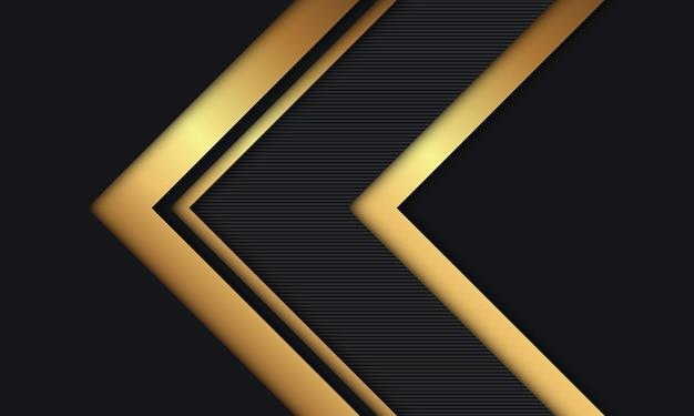 Sfondo astratto moderno lusso nero e dorato