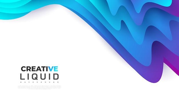 Modello di progettazione di sfondo astratto moderno con forme fluide colorate