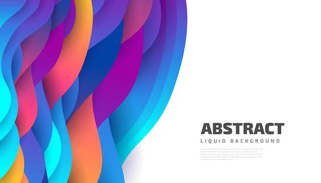 Design moderno astratto con forme fluide e liquide colorate. sfondo liquido per landing page, temi, brochure, banner, copertine, opuscoli, stampe, volantini, libri, biglietti o pubblicità Vettore Premium