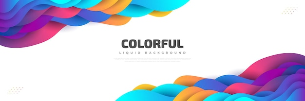 Design moderno astratto con forme fluide e liquide colorate. sfondo liquido per landing page, temi, brochure, banner, copertine, opuscoli, stampe, volantini, libri, biglietti o pubblicità