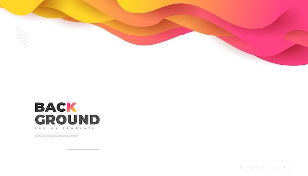 Design di sfondo astratto moderno con forme fluide e liquide colorate