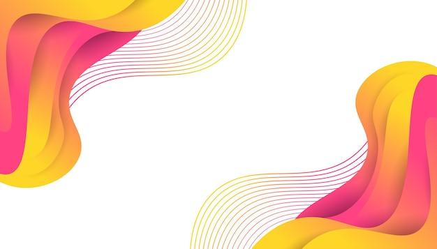 Design moderno astratto con forme liquide colorate. design fluido dello sfondo per landing page, temi, brochure, banner, copertine, stampe, volantini, libri, biglietti o pubblicità