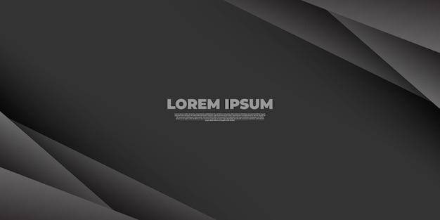 Sfondo astratto moderno con sfumature di linee grigie nere e diagonali