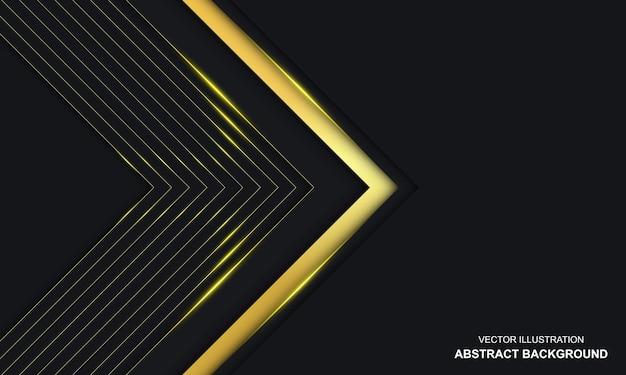 Sfondo di lusso nero e dorato astratto moderno