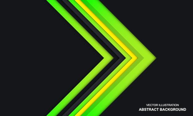 Sfondo di colore verde e giallo nero astratto moderno