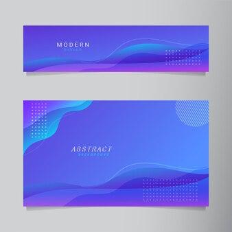 Fondo moderno astratto di forma fluida blu e viola