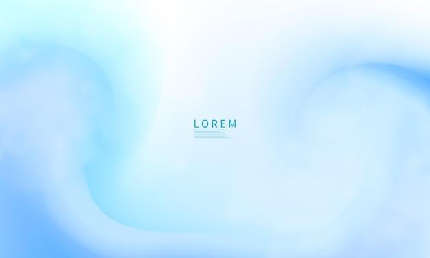 Moderne forme astratte blu cartoline o copertine di brochure con una tavolozza di colori pastello e uno sfondo sfumato