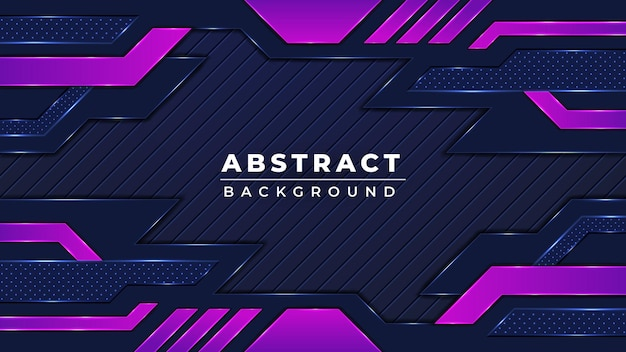 Sfondo di gioco futuristico colorato astratto moderno con colore nero e viola