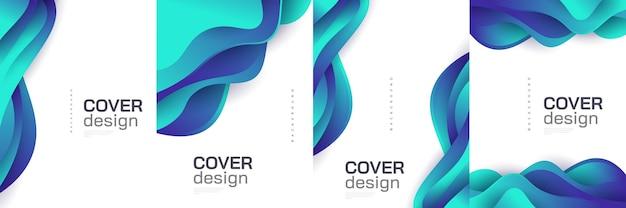 Modello di progettazione di copertina astratta moderna con forme fluide e liquide colorate. sfondo liquido per prima pagina, brochure, striscioni, copertine, opuscoli, stampe, volantini, libri, biglietti o pubblicità