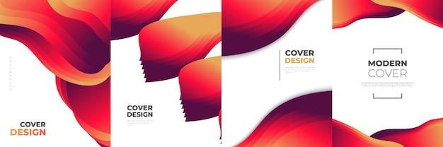 Modello di progettazione di copertina astratta moderna con forme fluide e liquide colorate. sfondo liquido per prima pagina, tema, brochure, banner, copertina, libretto, stampa, volantino, libro, biglietto o pubblicità