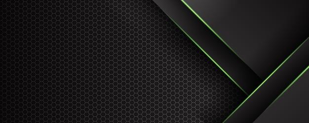 Fondo scuro e verde astratto moderno con effetto chiaro e lucido della linea