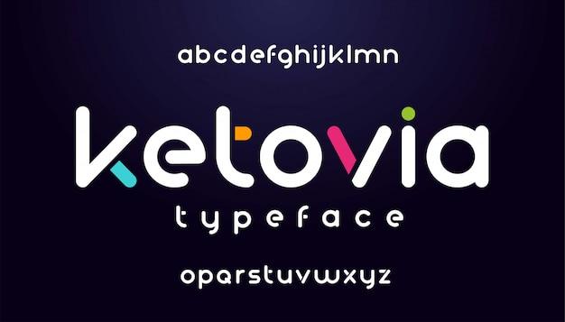 Carattere astratto moderno e alfabeto
