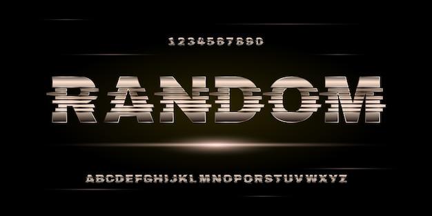 Stile urbano moderno astratto futuristico alfabeto font tipografia per la progettazione di logo di film digitale di tecnologia