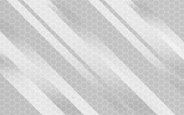 Fondo grigio geometrico astratto moderno nella struttura di esagono