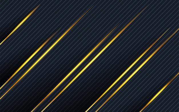 Linea moderna astratta dell'oro fondo nella struttura della banda
