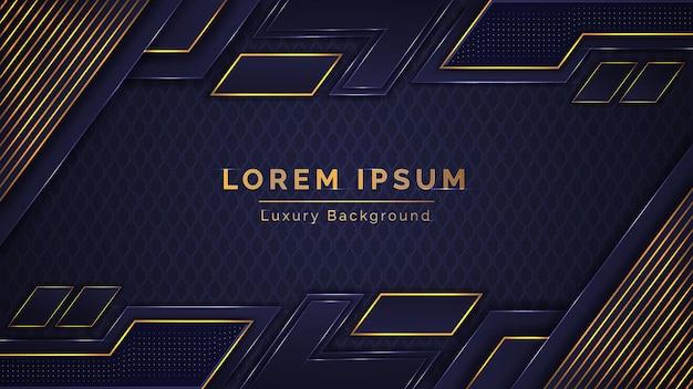 Design elegante sfondo di lusso colorato blu dorato astratto moderno