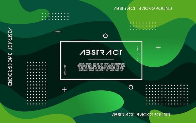 Fondo liquido verde astratto moderno. design dinamico di elementi geometrici strutturati. può essere utilizzato su poster, banner, web e altro ancora.