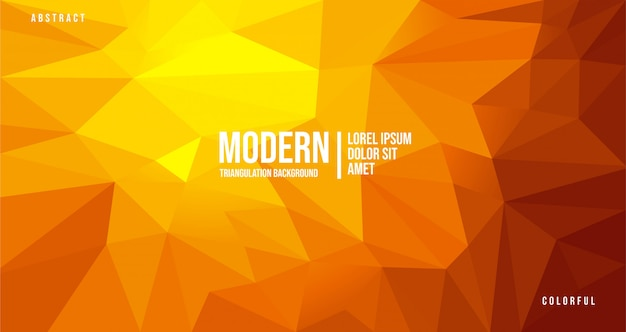 Priorità bassa arancione astratta moderna di triangolazione