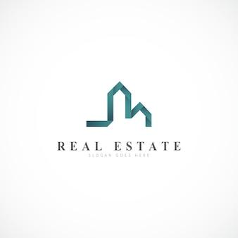 Moderna proprietà astratta e logo dell'edificio.