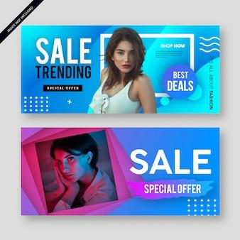 Manifesto moderno moderno dell'insegna di vendita
