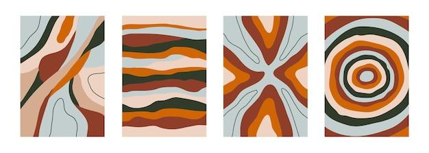 Set astratto moderno sfondi geometrici colorati design minimalista alla moda