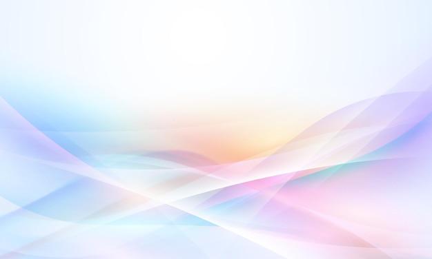 Cartolina o brochure dalle forme astratte moderne con una tavolozza di colori pastello e uno sfondo sfumato