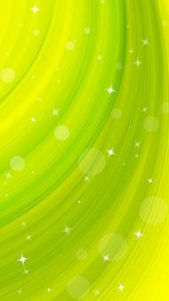 Fondo verticale astratto moderno creativo con la stella chiara sul pennello dell'acquerello di verde dell'onda.