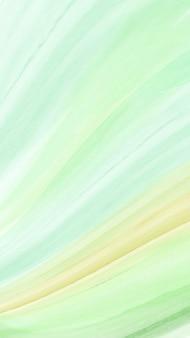 Fondo verticale astratto moderno creativo con il pennello dell'acquerello verde brillante dell'onda. Vettore Premium
