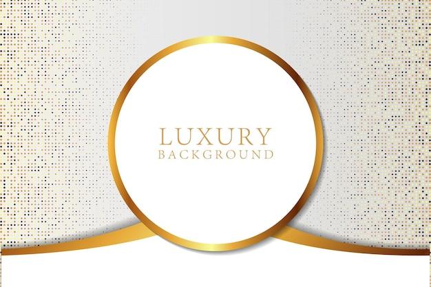 Sfondo di lusso bianco astratto moderno con glitter oro