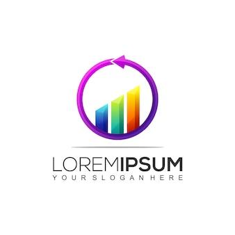 Modello moderno di logo contabile e finanziario