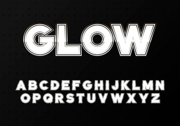 Alfabeto moderno con elegante tratto sfumato. lettere facili da usare in stile moderno alla moda. fashion abc