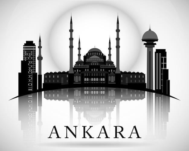 Design moderno dell'orizzonte della città di ankara. tacchino