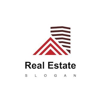 Ispirazione per il design del logo immobiliare dell'appartamento moderno