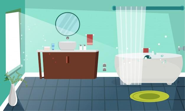 Architettura moderna del design degli interni del bagno.