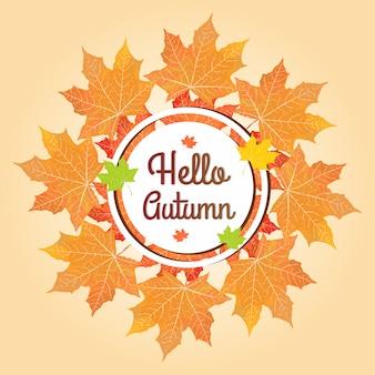 Sfondo autunno moderno
