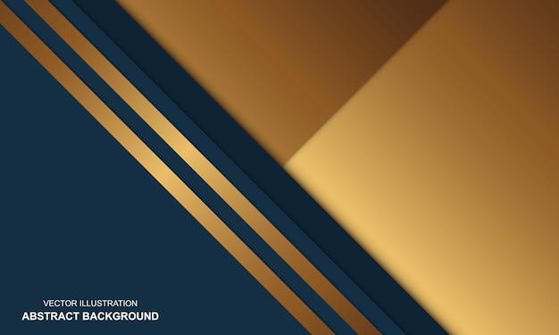 Sfondo moderno design di lusso blu e dorato