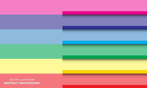 Sfondo moderno design bianco e arcobaleno