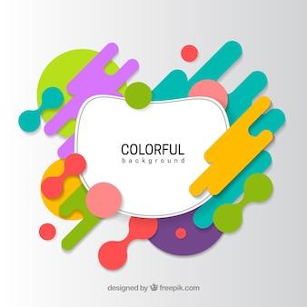 Sfondo moderno con forme arrotondate colorate