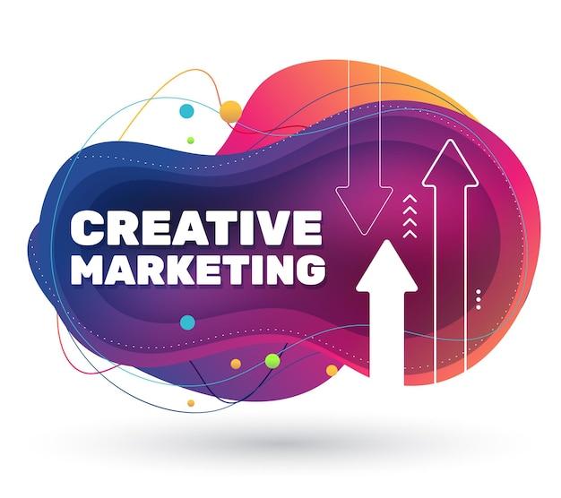 Bandiera moderna del progetto di marketing con ombra.