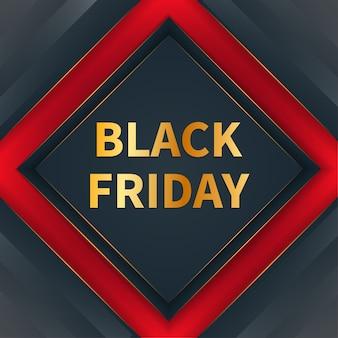Moderno concetto di banner venerdì nero